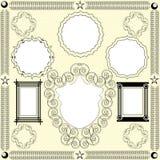 Retro frames. Vintage frames design elements illustration Royalty Free Stock Image