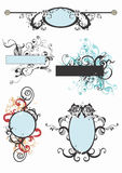 Retro frames. Illustration of decorative frames and patterns Royalty Free Stock Photography