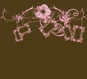 Retro frames. Illustration of retro frames and decorative patterns Royalty Free Stock Image