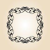 Retro frames calligraphic vignettes.Vector illustration.Black beige. Retro frames calligraphic vignettes.Vector illustration.Black on beige Royalty Free Stock Image