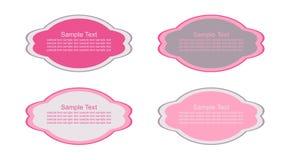 Retro frames pastelkleur Royalty-vrije Stock Afbeeldingen