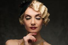 Retro- Frau Lizenzfreies Stockbild