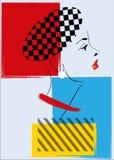 Retro- Frau der Knallkunst Stockbild