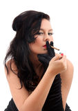 Retro- Frauenrauchen Lizenzfreies Stockbild