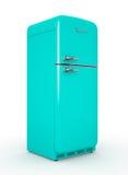 Retro fridge isolated white background 3D rendering. Retro fridge isolated on white background 3D rendering Stock Images