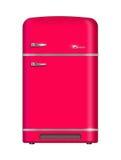 Retro frigorifero Fotografia Stock Libera da Diritti
