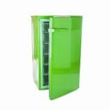 Retro frigorifero verde Immagine Stock Libera da Diritti