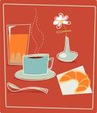 retro frukost Royaltyfria Foton
