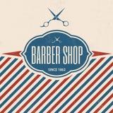 Retro fryzjera męskiego sklepu rocznika szablon ilustracji