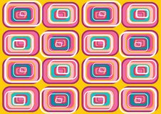 Retro fuchsia pop squares Royalty Free Stock Photos