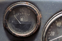 Retro Fuel Gauge Stock Photography