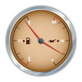 Retro fuel and oil gauge icon. Royalty Free Stock Images