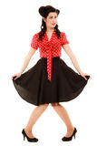 Retro. Full length of woman girl in pinup style Stock Photography