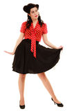 Retro. Full length of woman girl in pinup style Stock Images
