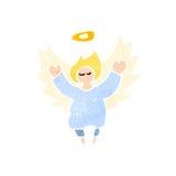 retro fumetto poco angelo Fotografia Stock Libera da Diritti