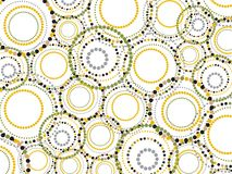 Retro fun dotted circles pattern Stock Photo