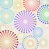 Retro Fun Dotted Circles Pattern Stock Photography