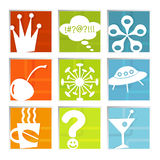 Retro Fun Icons (vector) Stock Image