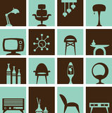 Retro furniture royalty free stock photography