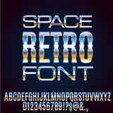 Retro Future Font Royalty Free Stock Images