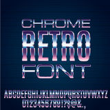 Retro Future Font Royalty Free Stock Photo