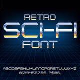 Retro Future Font Stock Photos