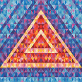 Retro futurism - abstract vector background. Abstract geometric pyramid. Geometric vector pattern. Royalty Free Stock Photography
