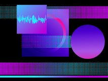 Retro futurism background. Pop art dots with violet gradient, halftone. Synthwave. Retrowave. Vector. Illustration vector illustration
