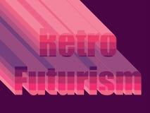 Retro futurism Stilistisk inskrift80-tal vektor vektor illustrationer