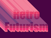 Retro Futurism. Stylistic inscription 80s. Vector Royalty Free Stock Photos