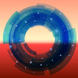Retro-futuristic background with blue segmented Royalty Free Stock Image