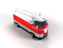 Retro futuristic buss Arkivbilder