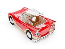 Retro futuristic car 1960 back Stock Photos