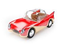 Retro futuristic car 1960. Red retro futuristic car from sixties in cartoon style Stock Photography