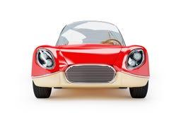 Retro futuristic car 1960. Red retro futuristic car from sixties in cartoon style Stock Images