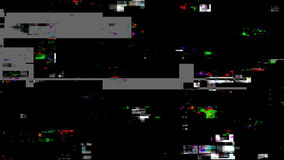 Retro futuristic video signal damage with dead pixels, noise and interference.