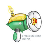 Retro futuristic weapon vector illustration Royalty Free Stock Photography