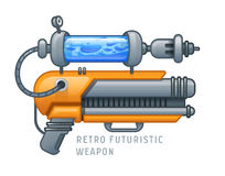 Retro futuristic weapon vector illustration Stock Images