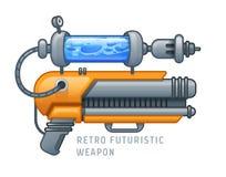 Retro futuristische wapen vectorillustratie Stock Afbeeldingen