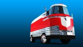 Retro- futuristischer Bus Stockfotos