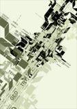 Retro- futuristischer Hintergrund Stockfotos