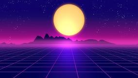 Retro futuristisk illustration för bakgrunds80-talstil 3d Royaltyfri Fotografi
