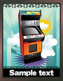 Retro game machine  Royalty Free Stock Image