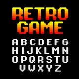 Retro game pixel font Stock Photo