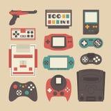 Retro game player set Stock Image