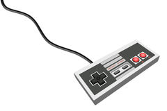 Retro gamepad. A retro gamepad on isolated background Royalty Free Stock Photos