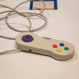 Retro gamepad at Games Week 2014 in Milan, Italy Stock Photo