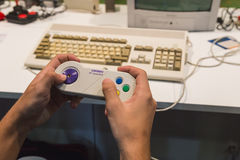 Retro gamepad at Games Week 2014 in Milan, Italy Stock Photography