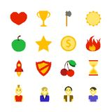 Retro Games Color Icons Royalty Free Stock Photo