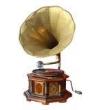 Retro gammal grammofon med hornet Royaltyfri Fotografi